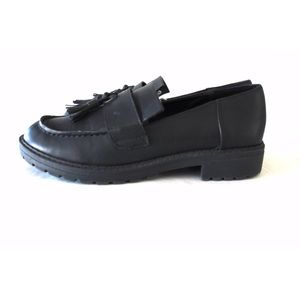 wild fable Shoes - Wild Fable Black Chunky Mens wear Inspired Loafers